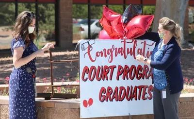 Drive-Through Graduation of Drug Court Program