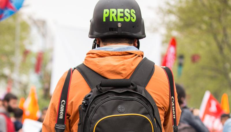 a member of the press